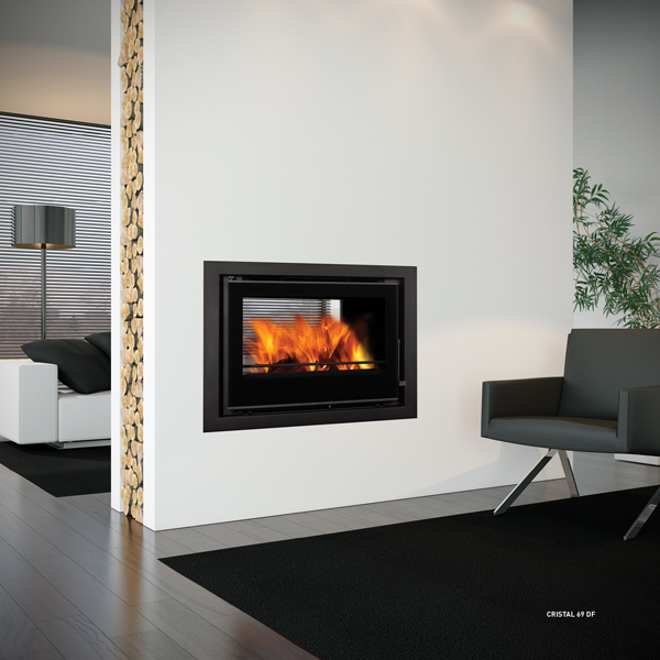 Crystal 98 Double Sided Inset Stove